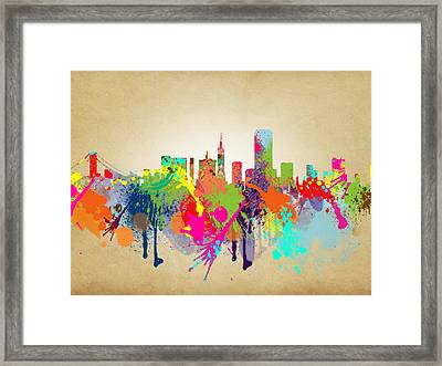 san francisco Citi Framed Print by Mark Ashkenazi