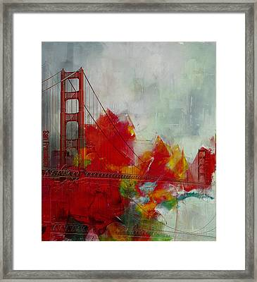 San Francisco City Collage Framed Print by Corporate Art Task Force
