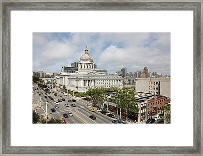 San Francisco City Hall 5d22507 Framed Print by Wingsdomain Art and Photography