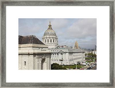 San Francisco City Hall 5d22547 Framed Print by Wingsdomain Art and Photography