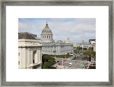 San Francisco City Hall 5d22554 Framed Print by Wingsdomain Art and Photography