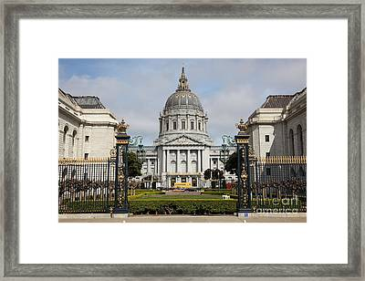 San Francisco City Hall 5d22562 Framed Print by Wingsdomain Art and Photography