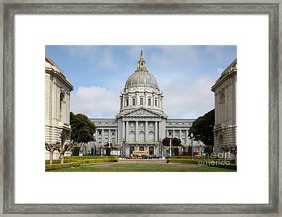 San Francisco City Hall 5d22568 Framed Print by Wingsdomain Art and Photography