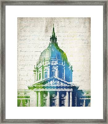 San Francisco City Hall Framed Print by Aged Pixel
