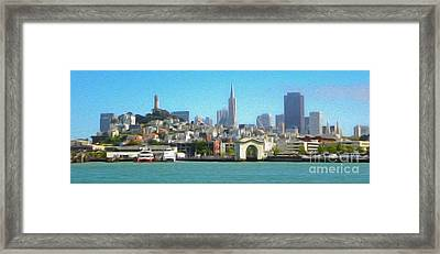 San Francisco - Cityscape - 01 Framed Print by Gregory Dyer