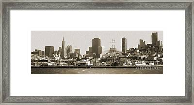 San Francisco - Cityscape - 02 Framed Print by Gregory Dyer