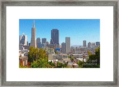 San Francisco - Cityscape - 03 Framed Print by Gregory Dyer