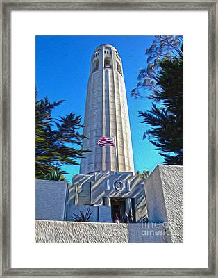 San Francisco - Coit Tower - 03 Framed Print by Gregory Dyer