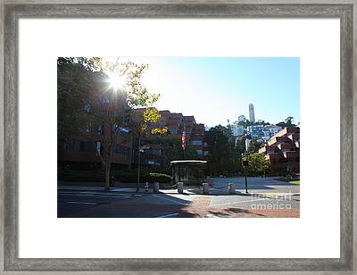 San Francisco Coit Tower At Levis Plaza 5d26189 Framed Print by Wingsdomain Art and Photography