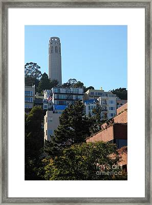 San Francisco Coit Tower At Levis Plaza 5d26192 Framed Print by Wingsdomain Art and Photography