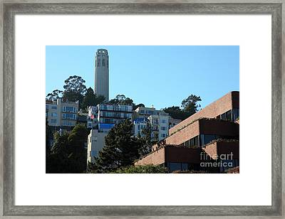 San Francisco Coit Tower At Levis Plaza 5d26193 Framed Print by Wingsdomain Art and Photography