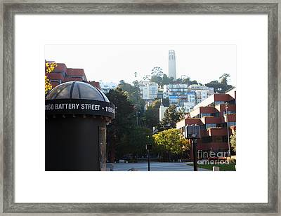 San Francisco Coit Tower At Levis Plaza 5d26212 Framed Print by Wingsdomain Art and Photography