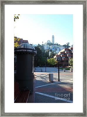 San Francisco Coit Tower At Levis Plaza 5d26213 Framed Print by Wingsdomain Art and Photography