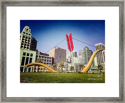 San Francisco Cupid's Span Framed Print by Colin and Linda McKie