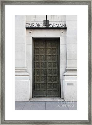 San Francisco Emporio Armani Store Doors - 5d20538 Framed Print by Wingsdomain Art and Photography