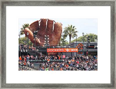 San Francisco Giants Fan Lot Giant Glove 5d28142 Framed Print by Wingsdomain Art and Photography