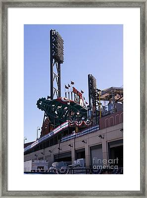 San Francisco Giants World Series Baseball At Att Park Dsc1885 Framed Print by Wingsdomain Art and Photography