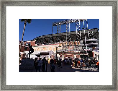 San Francisco Giants World Series Baseball At Att Park Dsc1896 Framed Print by Wingsdomain Art and Photography