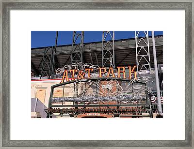 San Francisco Giants World Series Baseball At Att Park Dsc1901 Framed Print by Wingsdomain Art and Photography
