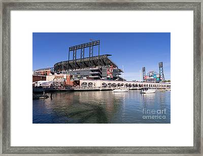 San Francisco Giants World Series Baseball At Att Park Dsc1906 Framed Print by Wingsdomain Art and Photography