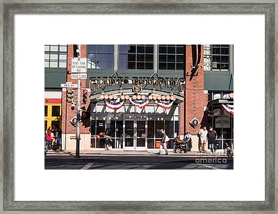 San Francisco Giants World Series Baseball At Att Park Dsc1916 Framed Print by Wingsdomain Art and Photography
