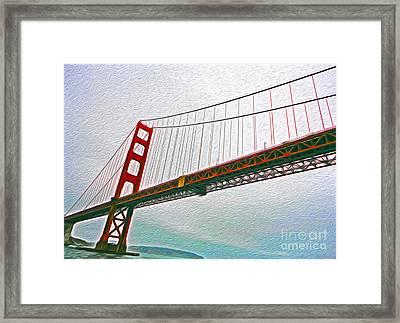 San Francisco - Golden Gate Bridge - 01 Framed Print by Gregory Dyer