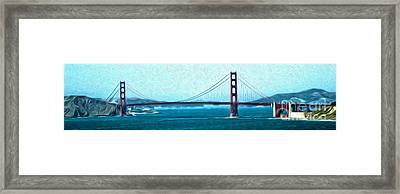 San Francisco - Golden Gate Bridge - 07 Framed Print by Gregory Dyer
