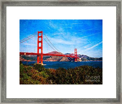 San Francisco Golden Gate Framed Print by Sonja Quintero