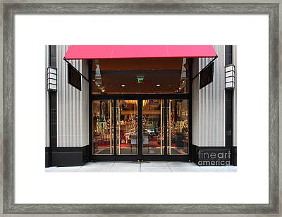 San Francisco Gumps Store Doors - 5d20588 Framed Print by Wingsdomain Art and Photography