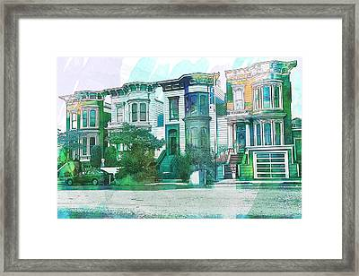 San Francisco Homes Framed Print by Garry Gay