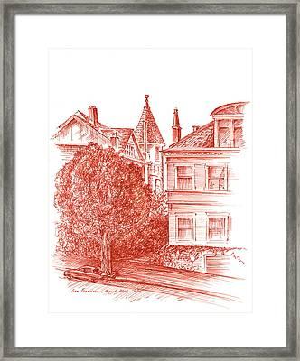 San Francisco Jackson Street Framed Print by Irina Sztukowski