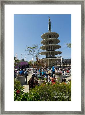 San Francisco Japantown Cherry Blossom Festival Dsc986 Framed Print by Wingsdomain Art and Photography
