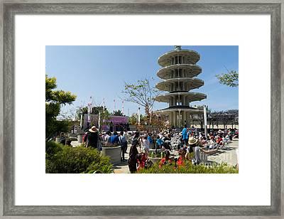 San Francisco Japantown Cherry Blossom Festival Dsc988 Framed Print by Wingsdomain Art and Photography