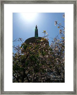 San Francisco Japantown Pagoda Dsc1014 Framed Print by Wingsdomain Art and Photography