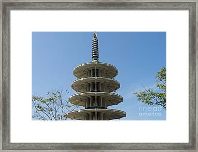 San Francisco Japantown Pagoda Dsc991 Framed Print by Wingsdomain Art and Photography