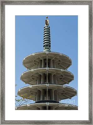 San Francisco Japantown Pagoda Dsc994 Framed Print by Wingsdomain Art and Photography