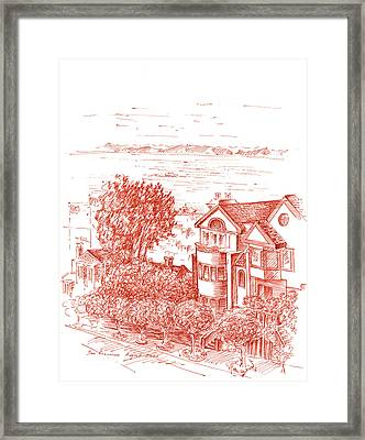 San Francisco Leavenworth Street Bay View Framed Print by Irina Sztukowski