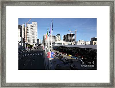 San Francisco Moscone Center And Skyline - 5d20511 Framed Print by Wingsdomain Art and Photography