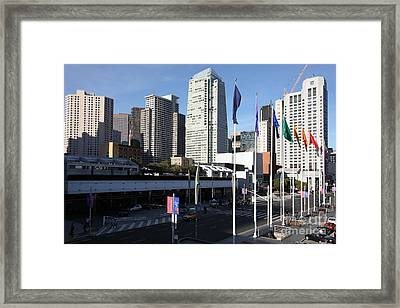 San Francisco Moscone Centerand And Skyline - 5d20504 Framed Print by Wingsdomain Art and Photography
