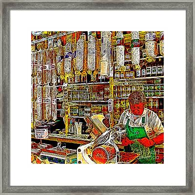 San Francisco North Beach Deli 20130505v2 Square Framed Print by Wingsdomain Art and Photography