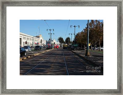 San Francisco Pier Along The Embarcadero 5d26156 Framed Print by Wingsdomain Art and Photography