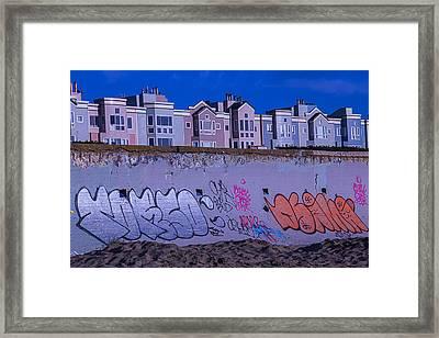 San Francisco Sea Wall Framed Print by Garry Gay