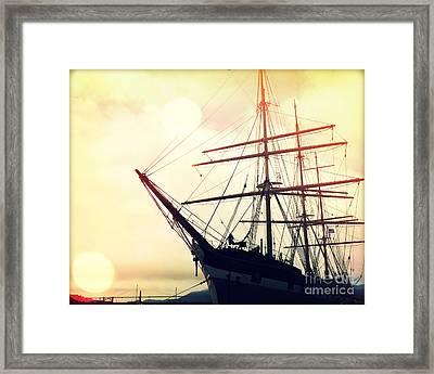 San Francisco Ship II Framed Print by Chris Andruskiewicz