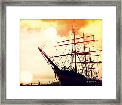 San Francisco Ship IIi Framed Print by Chris Andruskiewicz