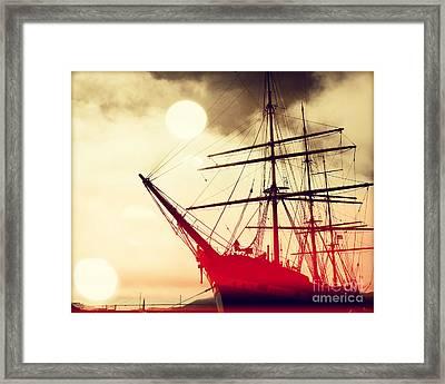 San Francisco Ship IIII Framed Print by Chris Andruskiewicz