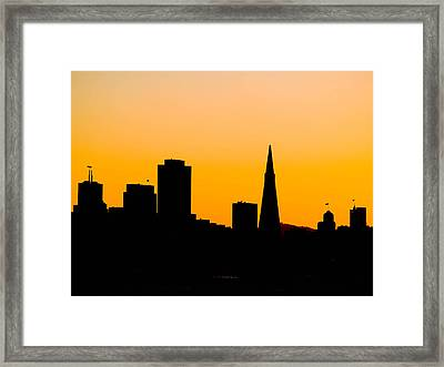 San Francisco Silhouette Framed Print by Bill Gallagher