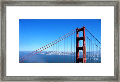 San Francisco - The City With The Golden Gate Framed Print by Pete Edmunds