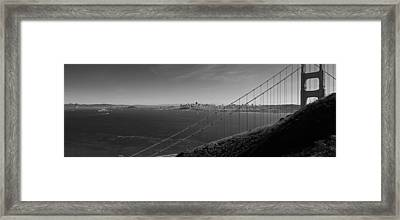 San Francisco Through The Golden Gate Bridge Framed Print by Twenty Two North Photography