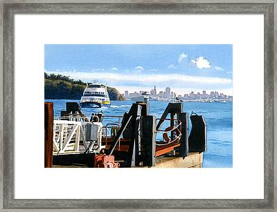 San Francisco Tiburon Ferry Framed Print by Mary Helmreich