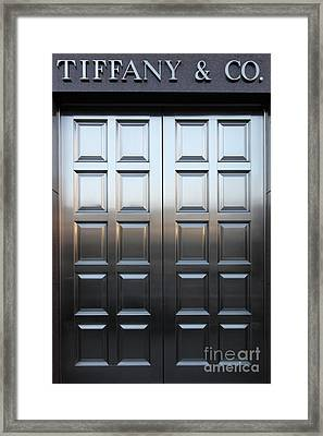 San Francisco Tiffany And Company Store Doors - 5d20561 Framed Print by Wingsdomain Art and Photography